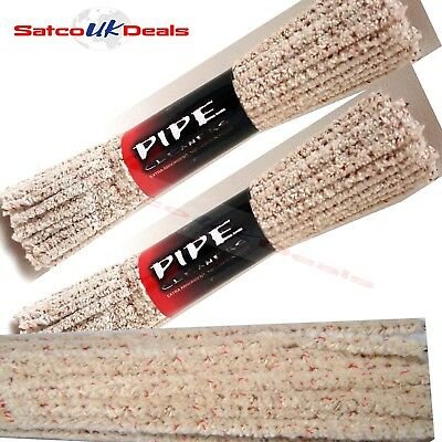 PIPE CLEANERS Hobby Craft Art White Smoking SOFT Sticks Clean 100% COTTON UK