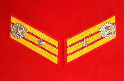 DPRK NK Korea communist Korean KPA Army uniform major rank patches collar tabs