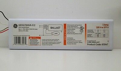 GE GEMH70MVR-F/2 Electronic Metal Halide Ballast 120/277V for 70W M98 M143 Lamp