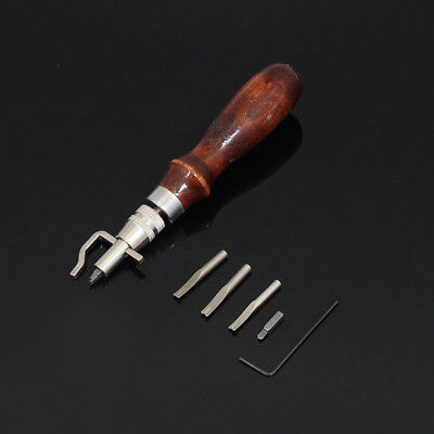 1 Set 5 in 1 leather craft Pro stitching groover + groover crease set hand tool