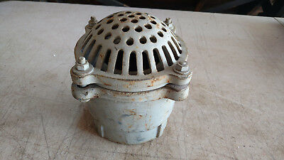 "Vintage Industrial Cast Iron Floor Drain by Clayton Mark Co. 7"" Tall"