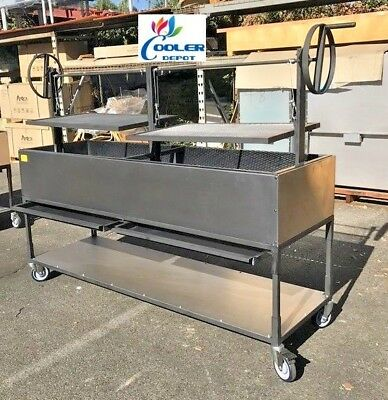 """NEW 72"""" Outdoor BBQ Charcoal Wood Grill Oven Roaster Lamb Chicken Beef Fish OB72"""