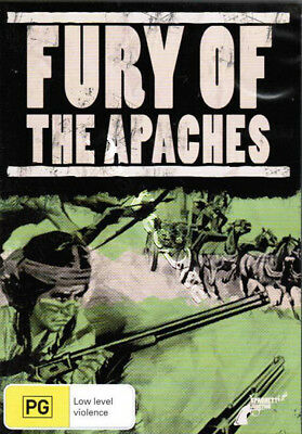 The Fury of the Apaches NEW PAL Classic Western DVD Frank Latimore Nuria Torray