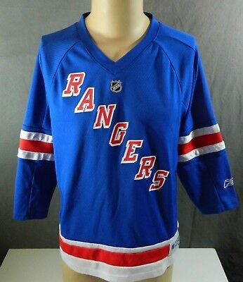 New York Rangers Hockey Jersey Youth Sz XL Pre-Owned