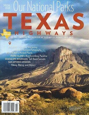 Texas Highways Magazine March 2018 National Parks Special Issue New! Free Ship!!