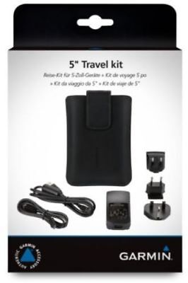 "Garmin Travel Kit 5""-Mains Charger-magnetic carry case-FREE DELIVERY B0XED ITEM"