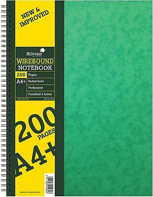 1 X Silvine A4 ruled notebook spiral wire sidebound hardcover(REF-SPA4)