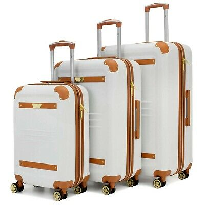 19V69 Italia Vintage Expandable Hard Shell Spinner Luggage Set (2/3 Piece)
