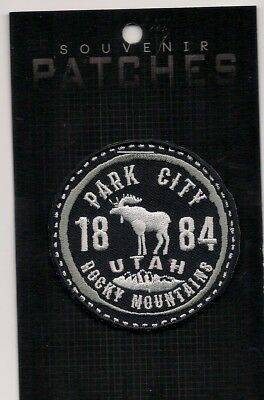 Park City Rocky Mountains Utah Embroidered Souvenir Patch Skiing