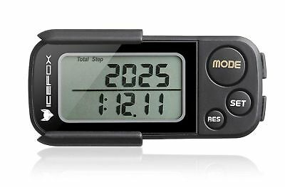 ICEFOX Walking 3D Pedometer with Clip and Strap30 Days Memory