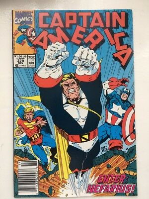 Captain America 379 - VF/NM+..1990...Marvel Comics.....NEFARIUS