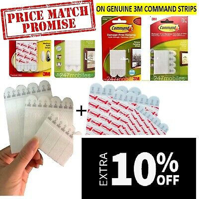 Command Strips Medium 3M Picture Hanging No Damage Poster Frames DIY Dual Lock