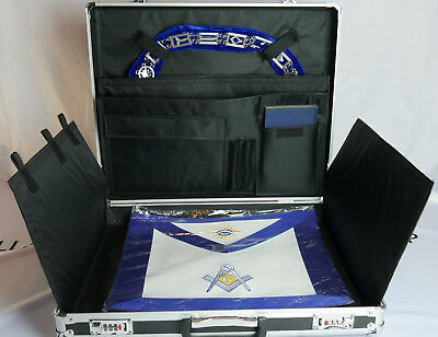 Freemason Masonic Metal Apron & Collar Case FREE S&H!