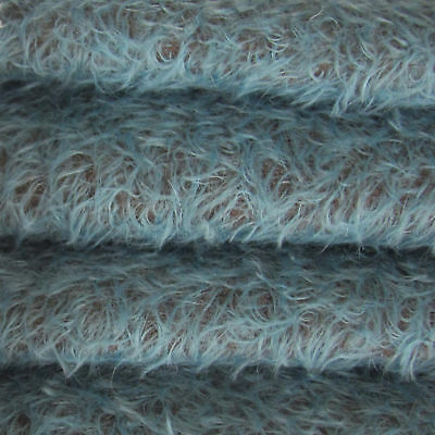 """1/6 yd 325S/CM Peacock Blue INTERCAL 5/8"""" Semi-Sparse Curly Matted Mohair Fabric"""