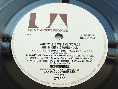 Groundhogs - Who Will Save The World? // Orig 1st UK UA Rec. 1U/1U LP Top Copy