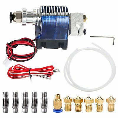 1x E3D V6 Printer Head with fan+with PTFE tube 3D printer Extrusion Head Parts