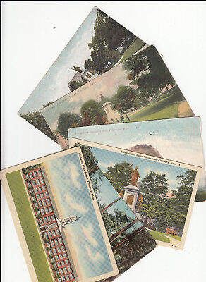 Lot of 6 Vintage Era Postcards Fitchburg Massachusetts Worcester County MASS MA