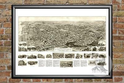 Old Map of Freeport, NY from 1909 - Vintage New York Art, Historic Decor