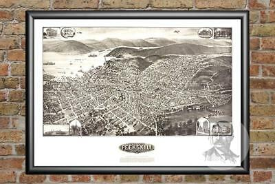 Old Map of Peekskill, NY from 1911 - Vintage New York Art, Historic Decor