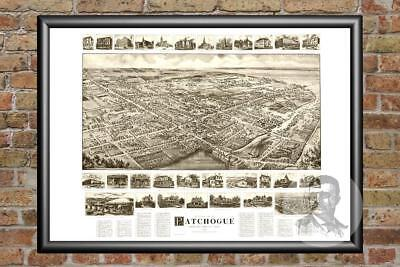 Old Map of Patchogue, NY from 1905 - Vintage New York Art, Historic Decor