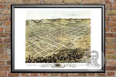 Old Map of Boscobel, WI from 1869 - Vintage Wisconsin Art, Historic Decor