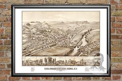 Old Map of Canajoharie, NY from 1881 - Vintage New York Art, Historic Decor