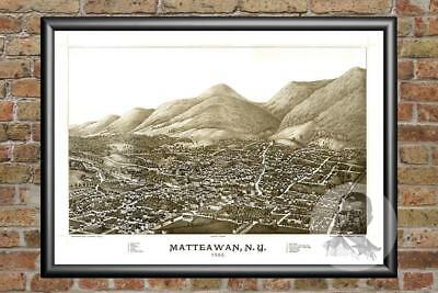 Old Map of Matteawan, NY from 1886 - Vintage New York Art, Historic Decor