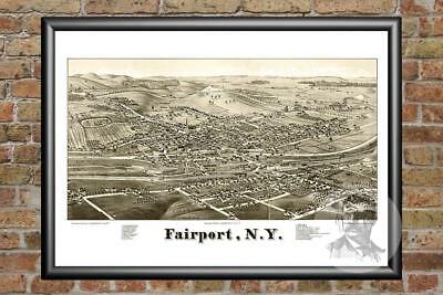 Old Map of Fairport, NY from 1885 - Vintage New York Art, Historic Decor