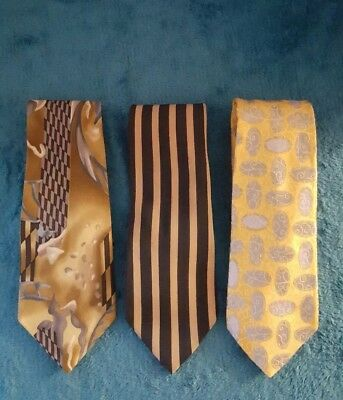 Designer Ties Lot of 3 XMI,Charleston,Cocktail Collection Ties #A694