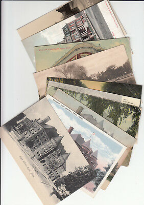 Lot of 10 Vintage Era Postcards Lynn MASS Massachusetts Essex County MA School +