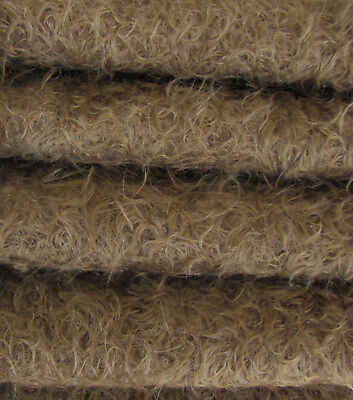 "1/4 yd 325S/CM Mink INTERCAL 5/8"" Semi-Sparse Curly Matted Mohair Fur Fabric"