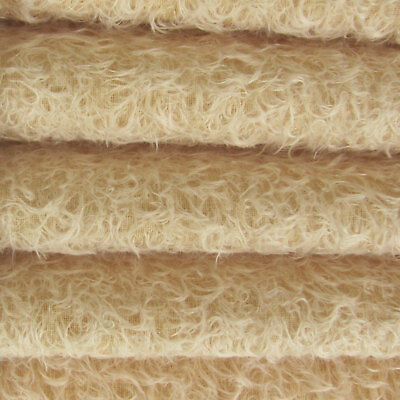 "1/4 yd 325S/CM Buttercup INTERCAL 5/8"" Semi-Sparse Curly Matted Mohair Fabric"