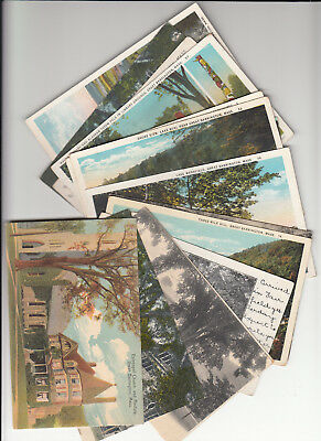 Postcard Dealer Lot of 15 Vintage Era Postcards Great Barrington Massachusetts +