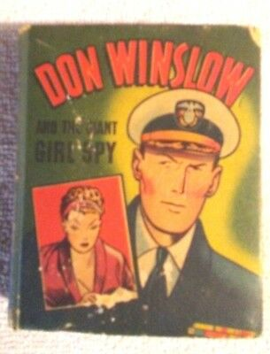 Rare Old Vintage Big Little Book Don  Winslow And The Giant Girl Spy 1946