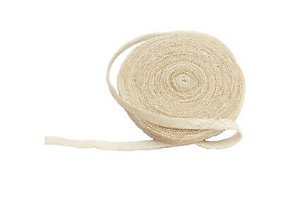 Sinamay Bias Binding Tape for Millinery 1 cm Wide - Ivory - 10 Meter Roll