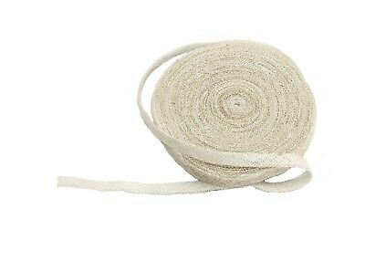 Sinamay Bias Binding Tape for Millinery 1 cm Wide - White - 10 Meter Roll