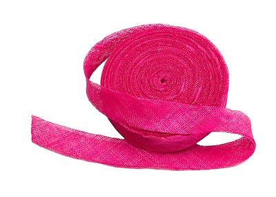 Sinamay Bias Binding Tape for Millinery 3 cm Wide - Hot Pink - 10 Meter Roll