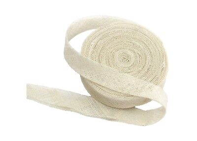 Sinamay Bias Binding Tape for Millinery 3 cm Wide - White - 10 Meter Roll