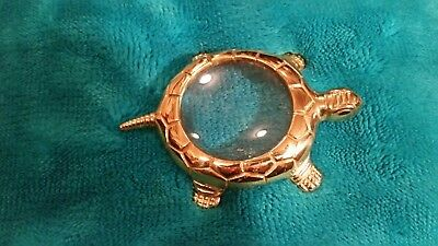 Brass Turtle Magnifying Glass