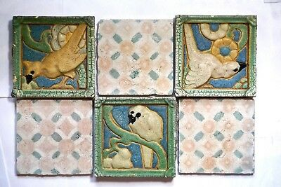 Grueby Faience Pottery Tile Frieze Plaque Arts & Crafts Ceramic Pottery