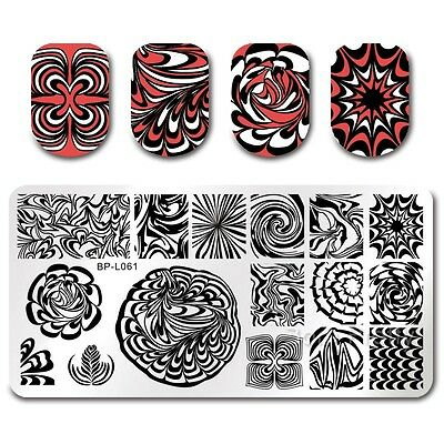 BORN PRETTY Nail Art Stamping Plates  Image Template DIY Water Marble
