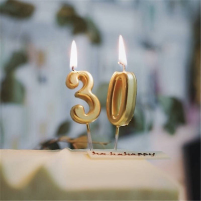 Number 0-9 Happy Birthday Cake Candles Topper Decoration Party Supplies Newly