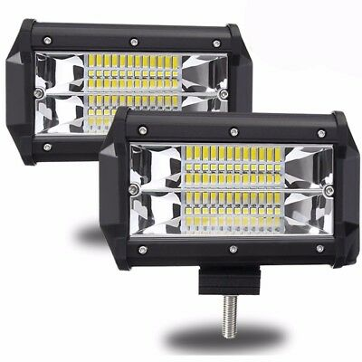 5inch Flush LED Work Light 240W Flood Combo Pods Driving Offroad Truck SUV Boat