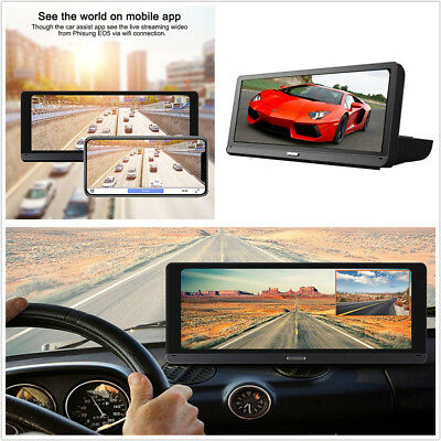"""8"""" Full Touch IPS 4G HD 1080P Car DVR Video Recorder Wifi FM BT ADAS Android 5.1"""