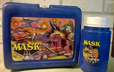 MASK 1985 Plastic Lunchbox with Thermos