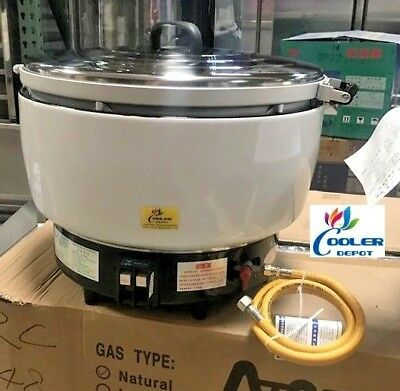 NEW coolerdepot LP Gas Commercial Rice Cooker (80 Cups) Propane