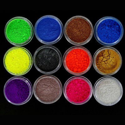 1x 12 Color Mica Pigment Powder Perfect Soap Cosmetics Resin Colorant Dye Makeup