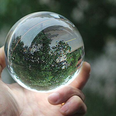 Clear Crystal Ball 80mm K9 Glass Lens Sphere Photography & Decoration Lensball
