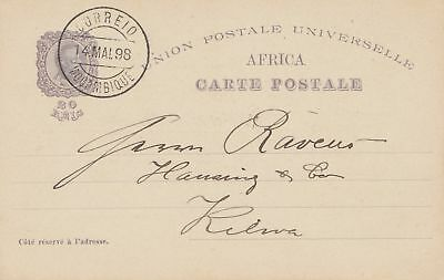 Mocambique 1898: post card to Kilwa, Deutsch Ost Afrika - DOA