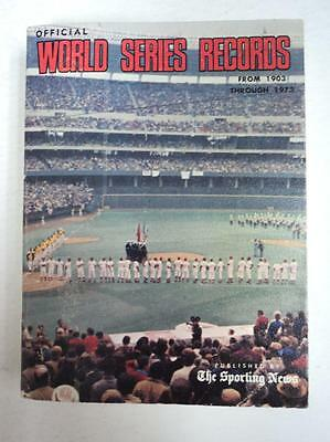 RARE 1903 1972 Official World Series Records Book Reds A's - HUGE FLASH SALE